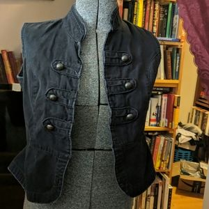 Denim vest, faded